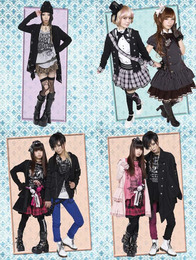 Links to Gothic Lolita Punk fashion designer websites, japanese clothing brand list, where buy Harajuku clothes online, Ghost of Harlem, Putumayo, Algonquins