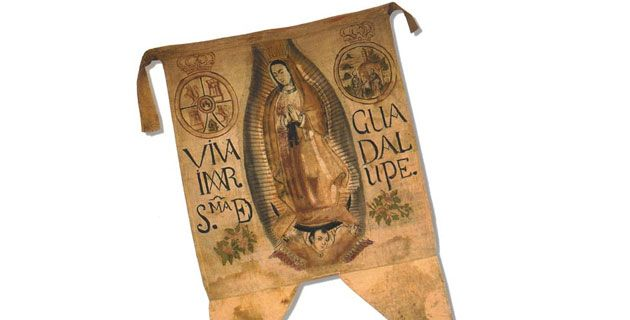 estandarte Miguel Hidalgo Virgen Guadalupe