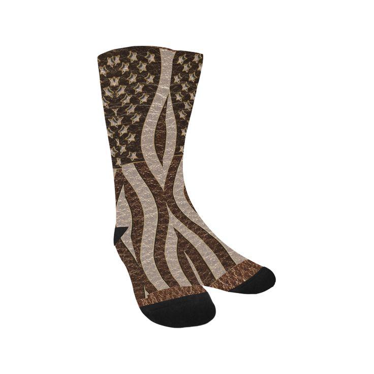 Leather-Look USA Knee-High Socks
