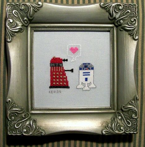I need to learn how to cross stitch or find a friend who can