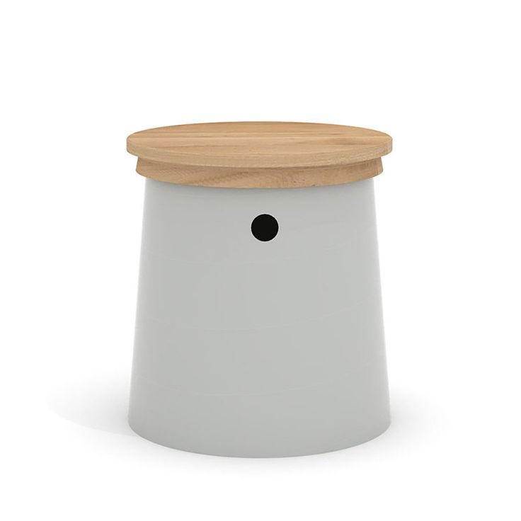 top3 by design - Universo Positivo - stool metal spook agate grey