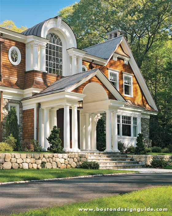 This Classical Shingle Style Home Subtly Combines Traditional New England  Styles  Designed By Jan Gleysteen Architects, Inc
