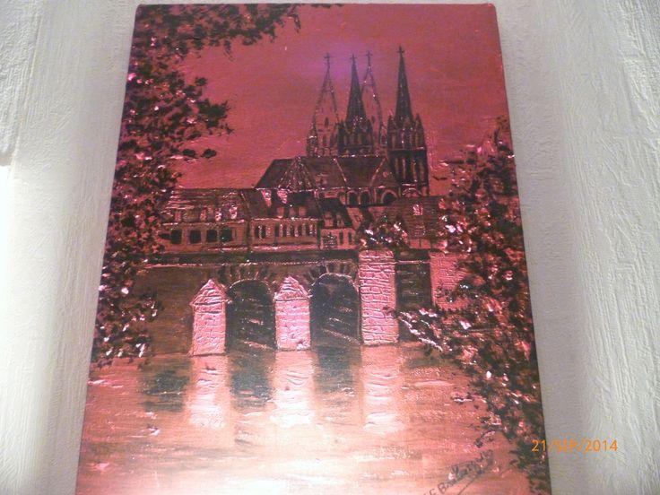 Mon Moulins Rouge Moulins sur Allier Huile sur toile