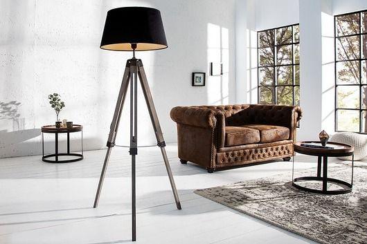 lampy-Lampa podłogowa Triango Black 100-145cm