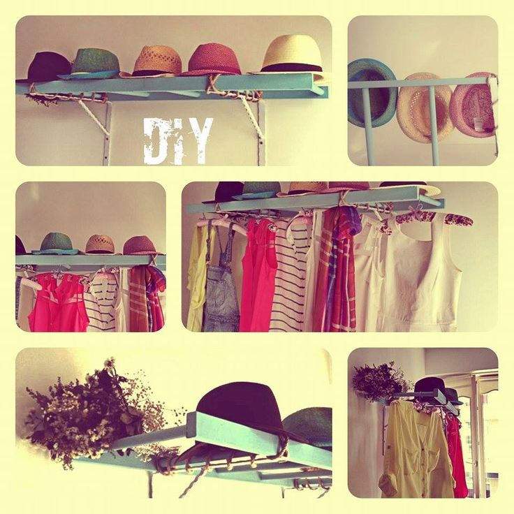 #diy #ladderclothesrack #doityourself #ladder #shelf #dressingroom #clothes #hanger #design #creative
