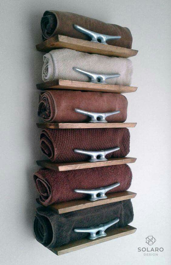 #shelving #nautical #towelrack