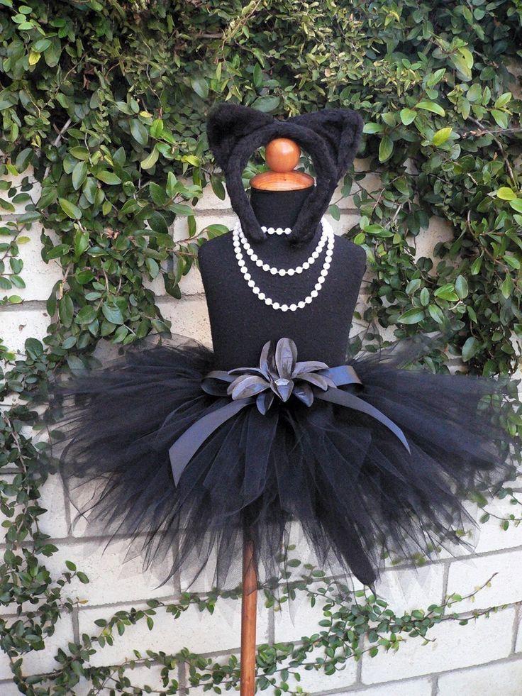 Midnight - Black Cat Tutu Costume Set - Sewn 11'' pixie ...