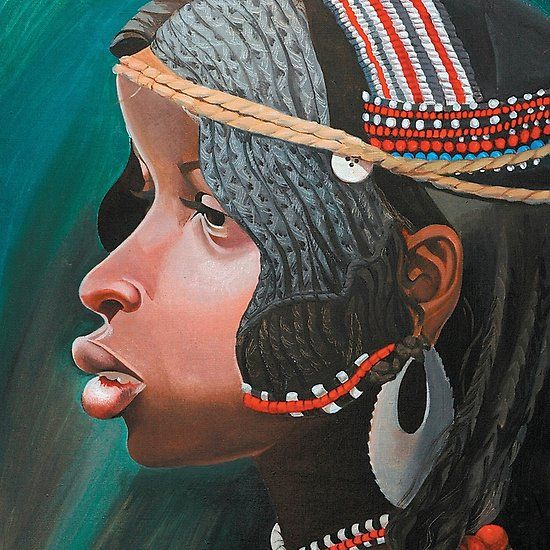 Small beautiful girl Nosipho.(original is in private collection)