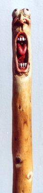 Nancy Tuttle carved walking stave