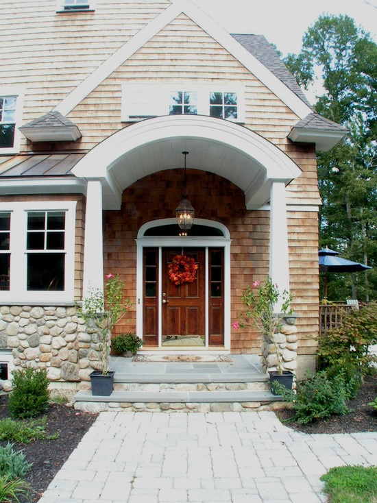 Front porch portico design pictures remodel decor and for Front exterior home designs