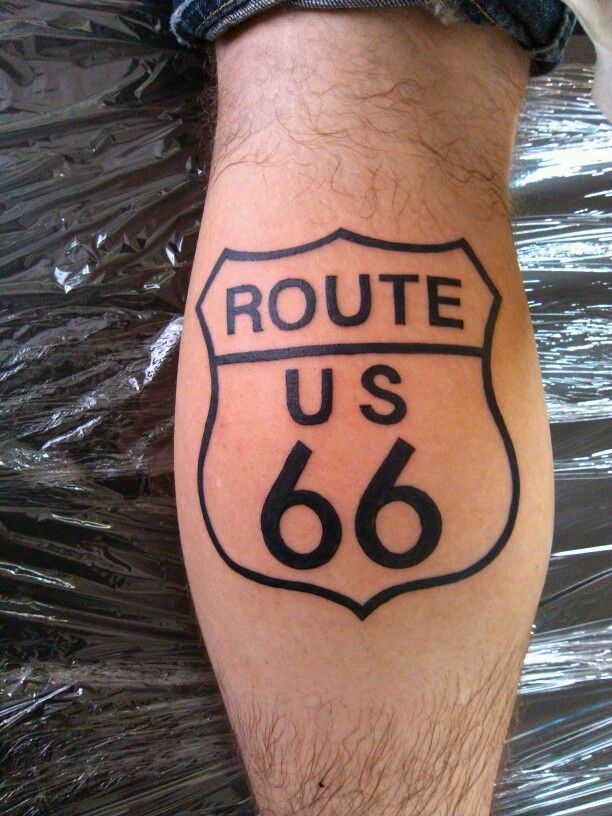 route 66 tattoo by jason begay tattoos pinterest route 66 and tattoos and body art. Black Bedroom Furniture Sets. Home Design Ideas