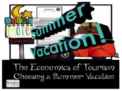 Economics and Tourism is an economic unit where students experience the scarcity of resources in choosing a vacation. Students will learn how to make informed decisions and are introduced to the PACED Decision Making Guide to choose their summer vacations. Students will learn that choices have opportunity costs. Students will also write informational opinion text to promote a vacation attraction.  Students will use graphic organizers to see the costs and benefits of each of their choices.