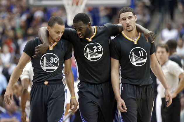 Curry, Green, and Thompson