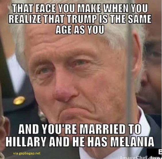 Funny Meme About Bill Clinton vs Donald Trump ft. Hillary Clinton And Melania Trump