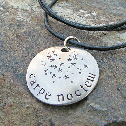 Carpe Noctem Necklace - science and astronomy jewelry, great gift for a stargazer