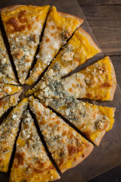 Naturally Ella | Butternut Squash Puree and Blue Cheese Pizza
