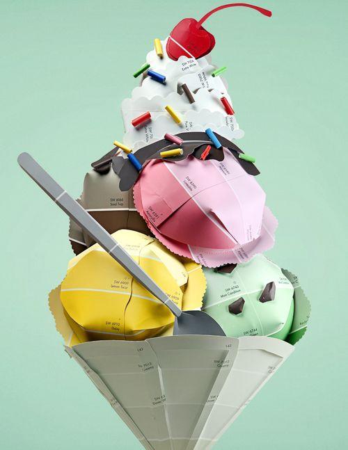 Un helado deliciosamente atractivo, todo entra por los ojos y llena el corazón.