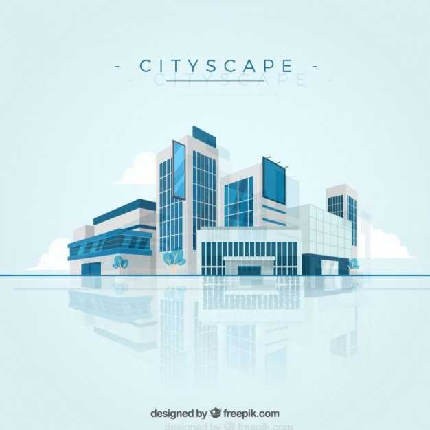 Modern Cityscape Background - FREE
