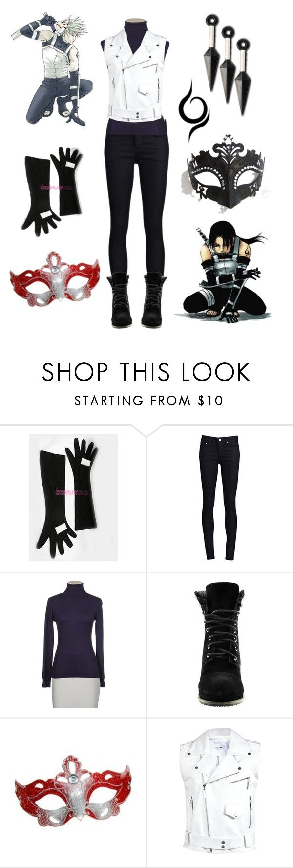 """""""Casual Cosplay - Anbu"""" by casual-cosplay ❤ liked on Polyvore featuring THVM, Pinko, H by Halston, Masquerade, kakashi, anime, naruto, itachi, cosplay and anbu"""