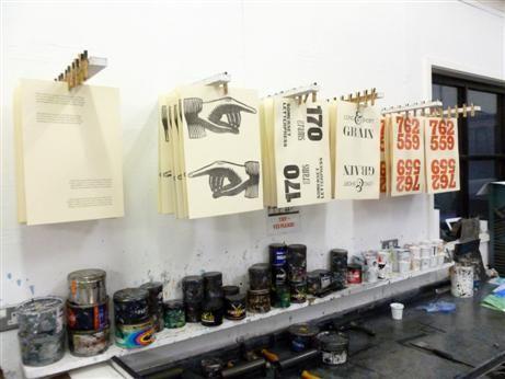 Clothes peg drying rack! #printmaking