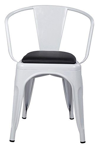8420948fa83e GIA AY55C-WH PU 2 Metal Dining Chair with Leather seat