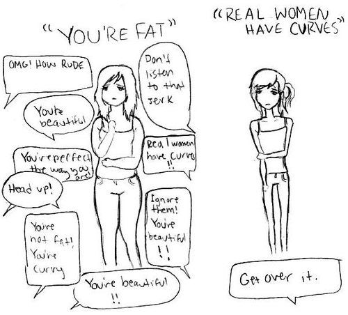 Real women have nothing to do with size. Real women have RESPECT for one another. Amen.
