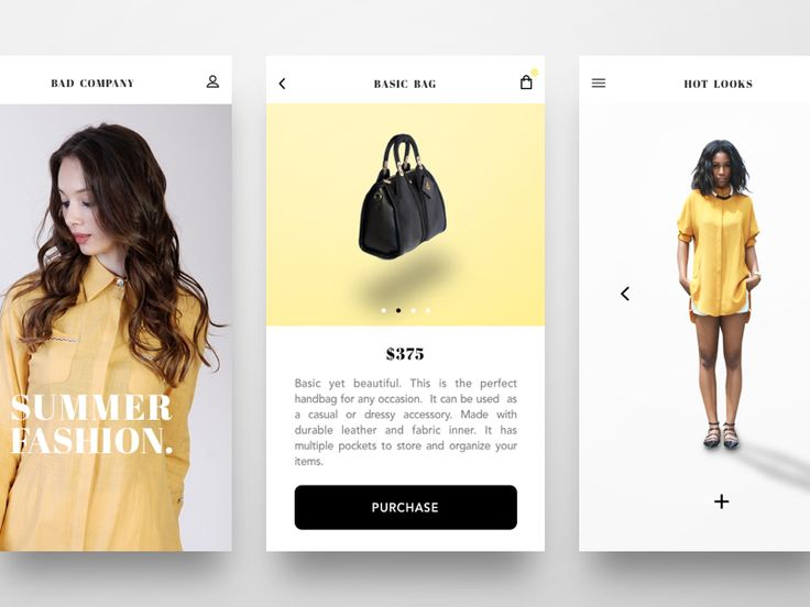 Women's Fashion Concept (Mobile Version)
