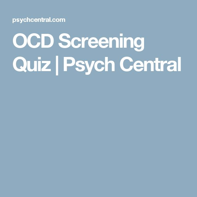 OCD Screening Quiz | Psych Central