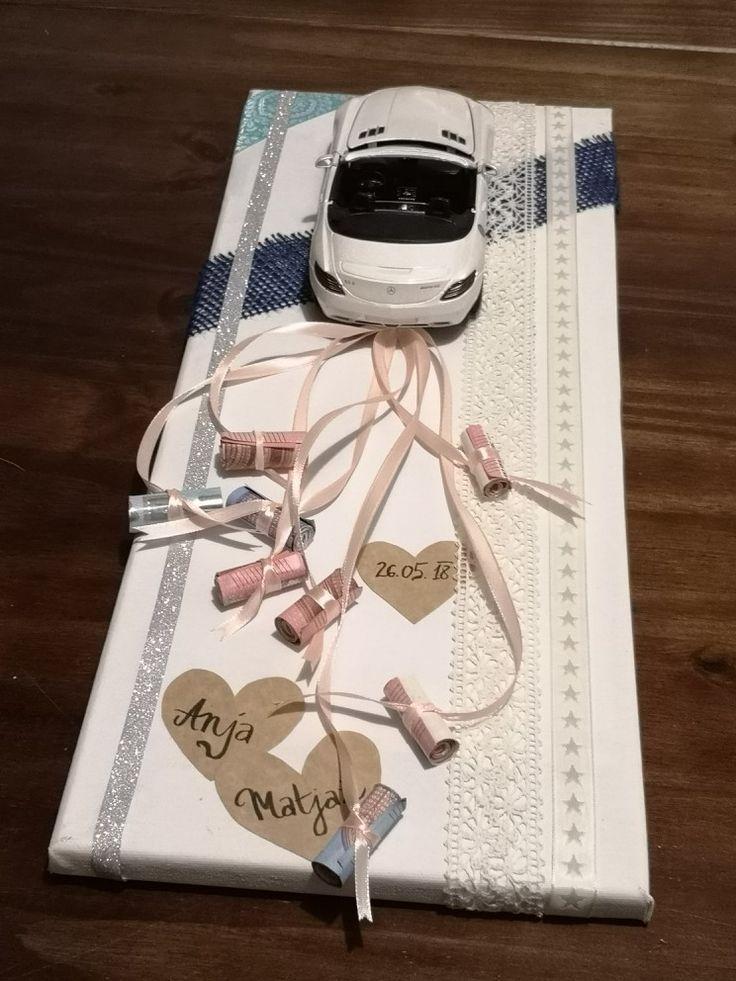 Hochzeitsgeschenk, das ich für meine Freunde gemacht habe. Kreative Art, Geld zu geben.