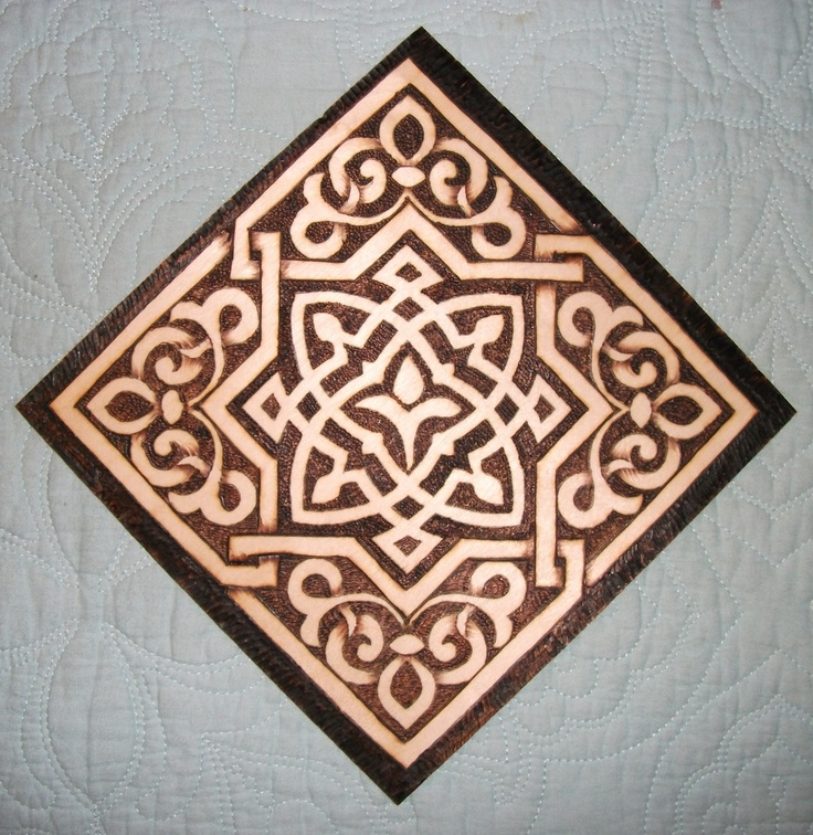 Pyrography From The Dover Coloring Book Arabic Floral