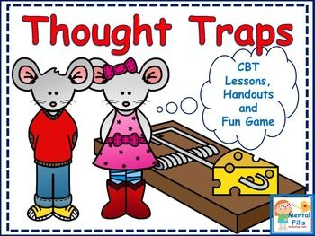 Thought traps are negative ways of thinking that interfere with our mood and behaviors. By being aware of our thinking, we have power over changing how we feel for the better and making prideful actions. Included in this product are visual handouts, posters, and worksheets that detail the Cognitive Behavioral Therapy model, and helpful strategies to combat negative thinking.In addition, a task card dice game helps reinforce the learned strategies in an effort to gain mastery over ones…