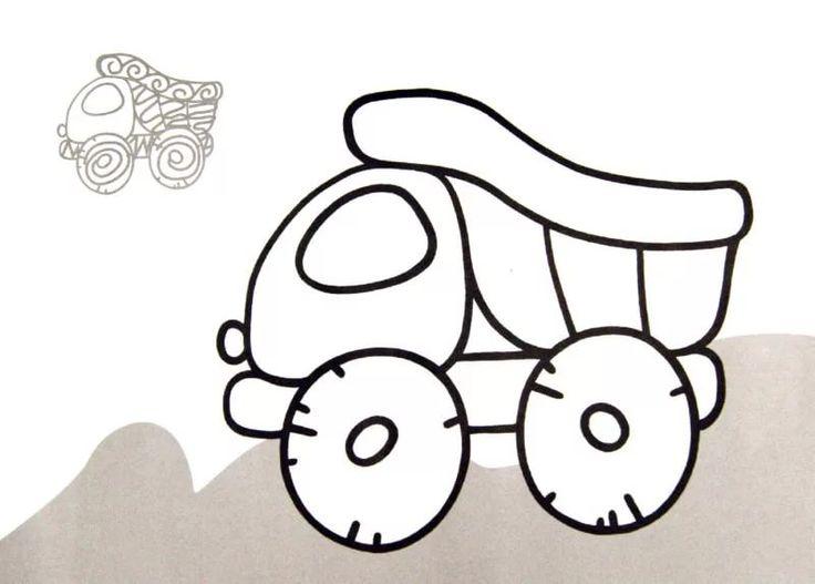 Картинки для детей 1-3 года, анимация белая