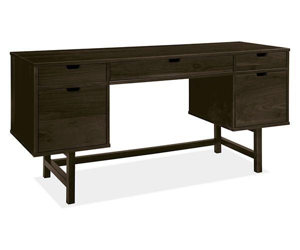 Room & Board - Ellis 66x22 Double File Drawer Desk