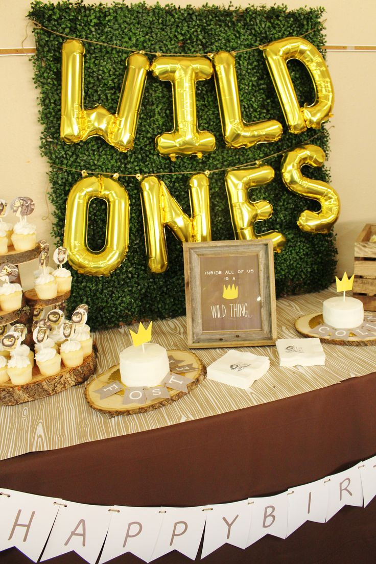 Where the Wild Things Are party ideas; Wild Ones