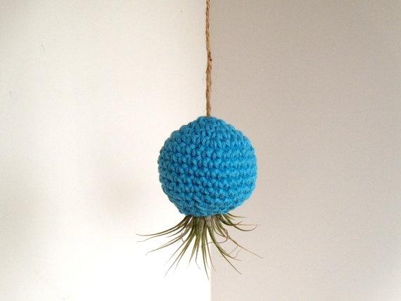 Crochet Pod for Air Plants by   airyobsessionsHandmade Colors, 13 25, Hanging Air Plants, Plants Crochet, Crochet Pods, Airyobsess Nice, Colors Aqua, Airy Obsession, Air Plants Terrariums