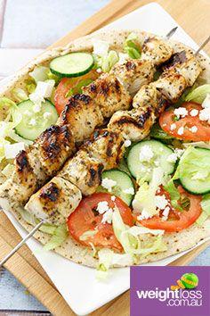 Chicken Souvlaki. #HealthyRecipes #DietRecipes #WeightLossRecipes weightloss.com.au
