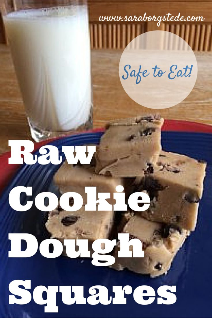 These Raw Cookie Dough squares are soooo good and so easy! And safe to eat, too! Make a batch and indulge. It's totally worth the splurge.