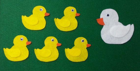 Felt Story Five Little Ducks Flannel Board by 5LittleFeltStories