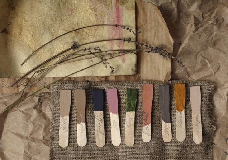 palettes de neutres vieillis et les pastels poussiéreux, aspects précieux défraîchis - Nelly Rodi -
