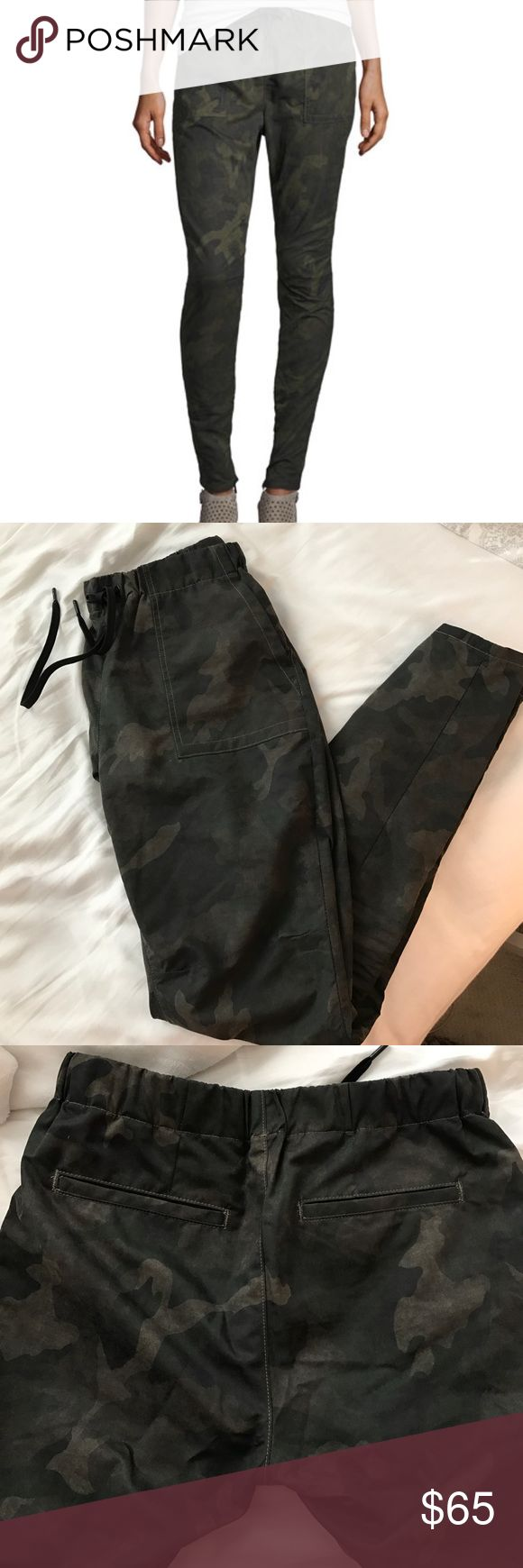 Rag & Bone Camo Jogger Pants Super comfy yet chic pants for everyday! With a drawstring and stretchy waistband these have a great fit and can instantly make any outfit look trendy. rag & bone Pants Track Pants & Joggers