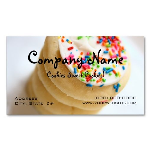 51 best bakery business cards images on pinterest bakery business cookies business cards created by carriescamera this design is available on several paper types and is totally customizable reheart Choice Image