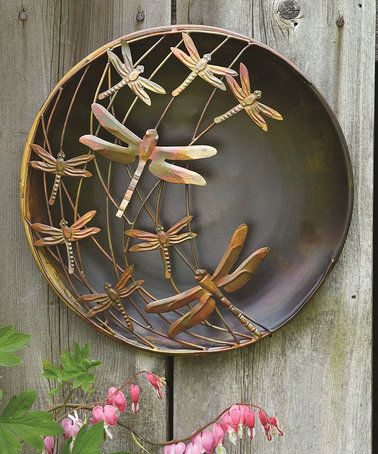 Dragonflies Raised Steel Outdoor Wall Art By Ancient Graffiti