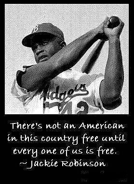 Jackie Robinson, the man who broke baseball's color barrier more than 60 years ago