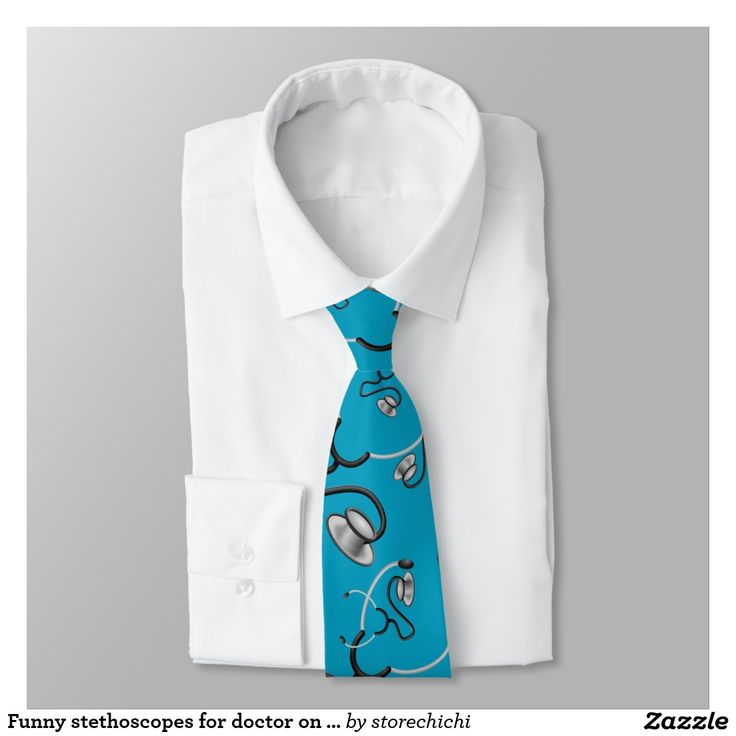 Funny stethoscopes for doctor on sky blue