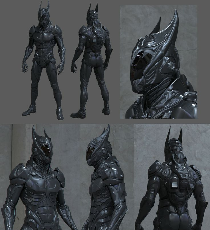 IM BATMAN lol... very epic suit design, would be awesome to have an entire futuristic batman series with this design