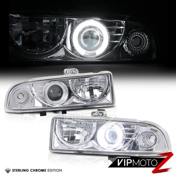 CCFL Angel Eye Projector HALO Headlight 98-04 S10/Blazer Truck ZR2/ZR5/SS/LT/LS #VIPMOTOZ
