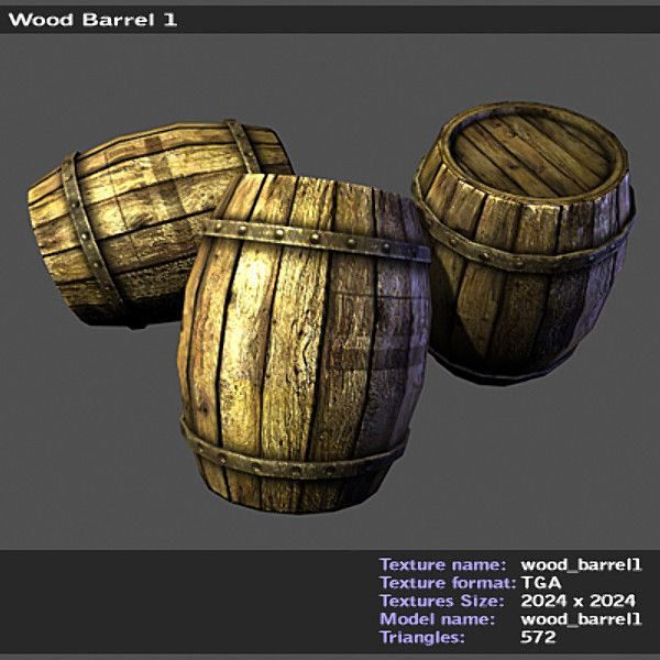 http://www.turbosquid.com/3d-models/wooden-barrel-wood-3d-model/475173