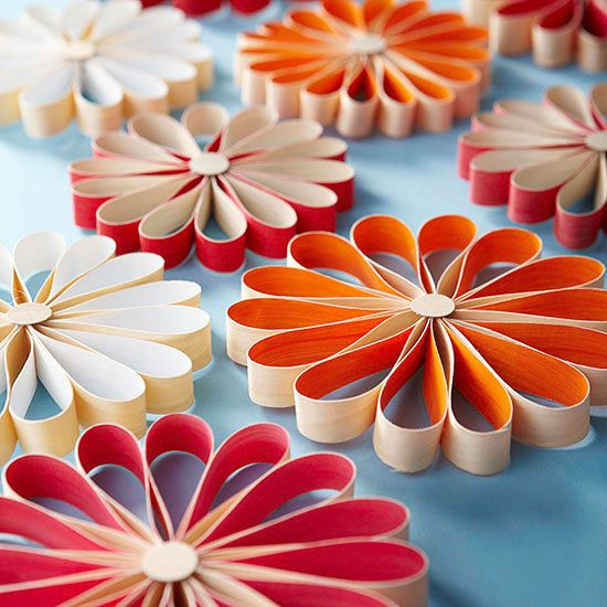 DIY Colorful Snowflake Ornaments - guess what these are made out of!