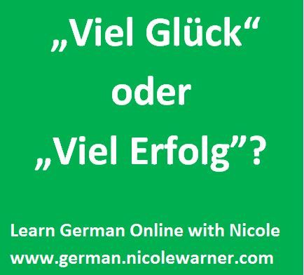 """Sagt man """"Viel Glueck"""" oder """"Viel Erfolg""""? Wishing someone luck in German can go one of two ways--even sarcastically! Both are explained here, plus you can learn about German good luck charms!"""