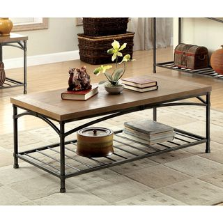 50-inch Renate Cocktail Table in Coffee Brown with Rack - Overstock Shopping - Great Deals on Coffee, Sofa & End Tables